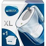 BRITA waterfilterkan Style XL verbetert de smaak en vermindert kalk en andere onzuiverheden uit kraanwater, grijs, 3,6L
