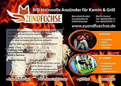 Zndfchse Kaminanznder Premium 5 Kg Ca 400 Stck Holzwolle Anznder Grillanznder Bioanznder