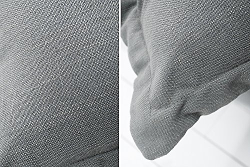 XXXL Hussensofa CLOUD grau Leinen Stoff Hussen 230cm Sofa Wohnlandschaft Couch Wohnzimmer - 9