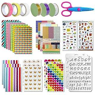 Aiskki Scrapbooking Zubehör Aufkleber Fotoalbum Stickers Liebe DIY Gestalten Tagebuch Karten Dekoration für Fotobuch(50 STK)