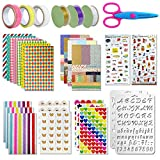 Scrapbooking kit,50 PCS Scrapbooking Accessoires Autocollant Album Photo Autocollants Amour DIY Agenda Cartes Décoration pour Livre Photo...