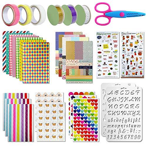 Tatuer Scrapbooking Zubehör Aufkleber Fotoalbum Stickers Liebe DIY Gestalten Tagebuch Karten Dekoration für Fotobuch(50 STK)