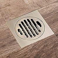 YONG 100 x 100 mm Desagüe para Suelo de Ducha de Baño Suelo Desagüe Ducha Desagüe para Canaleta, Antiguo Bronce,Coladores de Desagüe, Latón