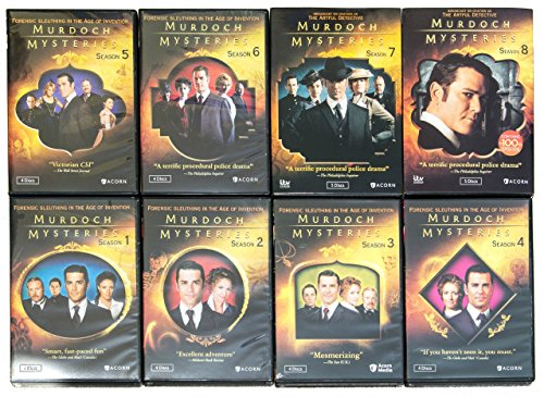 Murdoch Mysteries : Complete Seasons 1-8 Collection Bundle (DVD, 34-Disc, 2015)