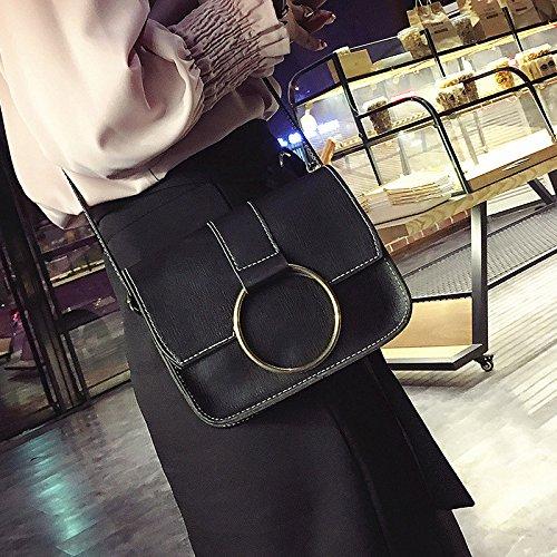 Meine Damen Schultertasche neuen Handtasche mini kleine quadratische Tasche Mode Damen Kuriertasche black