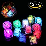 Cubitos de Hielo Super Brillante Luz LED 12pcs LED Luz Vino Decoración Boda Party Bar Club