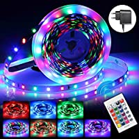 InnooLight 5m LED Strip 300 LEDs RGB Selbstklebend SMD 2835 LED Lichterkette mit 24-Tasten Fernbedienung, 7 Farbauswahl DIY led band als LED Streifen, LED Leiste, LED Lichtschlauch, LED Stripes