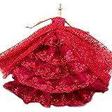 WayIn® El vestido rojo más increíble con Lentejuelas Diseñado para adaptarse a la muñeca Barbie
