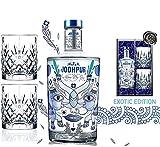 DAS Gin-Geschenk Set Exotic| limited Edition London Dry |inkl. 2 Gin Tumblern |Luxus London Dry Gin |in edler Geschenkbox schwarz| Sammler-Edition|Weihnachtsgeschenk & Weihnachten Männer Kenner