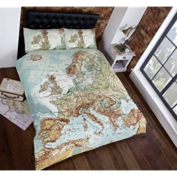 Vintage maps panel duvet cover quilt bedding set double world map vintage maps panel duvet cover quilt bedding set double world map in blue gumiabroncs Gallery