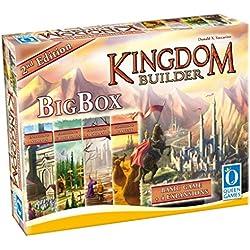 Queen Games 10363 - Kingdom Builder Big Box 2nd Edition - Basisspiel mit allen Erweiterungen und Queenies Kingdom Builder