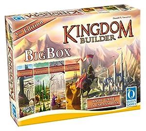 Queen Games Juego de Estrategia Kingdom Builder 10363, Caja Grande, Segunda edición, Juego básico con Todas Las expansiones y Queenies