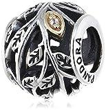 Pandora Damen-Charm 925 Sterling Silber Zirkonia Moments weiß 791205CZ