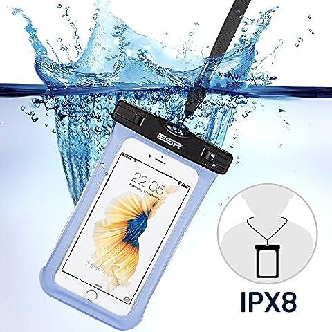 Impermeable Bolsa Funda, ESR® Universal Impermeable Bolsa Funda para Brazo y Cuello Compatible con iPhone 6s, iPhone 6s Plus, iPhone 6/5/4, Samsung Gaxaly Note 5/4/3/2, S6 Edge, S6, S5, S4, HTC, y otro hasta 6 pulgadas Smartphones