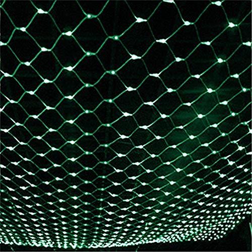 ELEGENCE-Z Net Fairy Light String außenleuchte led mesh Baum Garten licht 3 * 2 mt Fernbedienung mit anschließbaren Schwanz stecker für Green -