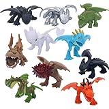 MINGZE 10pcs Dragons, How to Train Your Dragon, Mini, Multicolore