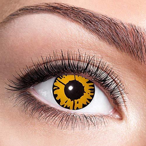 Alsino Farbige Kontaktlinsen Wochenlinsen 1 Paar Bunt Gruselig ohne Stärke für Mottopartys Halloween Fastnacht Karneval Fasching Kostüm Accessoire, (w48) Twilight