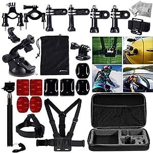 XCSOURCE® ensemble d'accessoires support pour Gopro Hero 1 2 3 3+ 4 Sac de transport et de Stockage / ceinture pectorale OS94