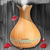 300ml Luftbefeuchter Aromatherapie Baby innoocare Diffusor Ätherische Öle/Aroma Ultraschall, 7-color LED, 4Timer, Dampf steuerbar, automatische Abschaltung für Zuhause, Büro, Bad.