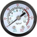 Luchtcompressor manometer, perslucht manometer 0 ~ 180 PSI, 0 ~ 12 bar, manometer meetinstrument 42 mm diameter voor schroefc