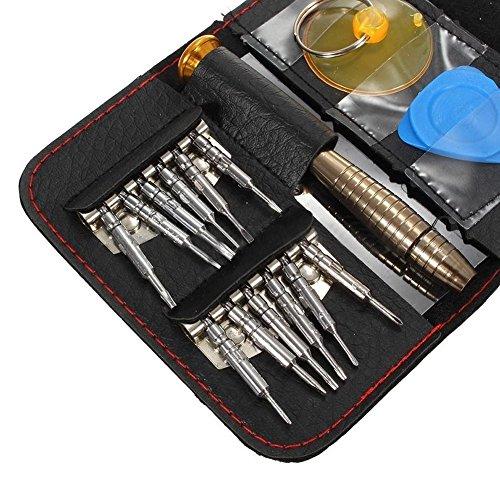 ULTRICS® Schraubendreher Satz, 16 Teilig Tragbar Mobile Reparatur Präzision Magnetisch Werkzeugsatz mit Fall für Elektro Spielzeug, Handy-Geräte Laptop MacBook Pro Tablet iPad Uhr Kameras Brille Mobile Essentials Kit