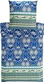 Bassetti 9235360 Bettwäsche, Loto V3, Satin, 200 x 135 x 0,5 cm, blau in
