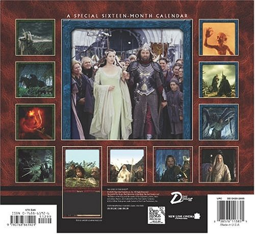 The Lord of the Rings 2005 Calendar