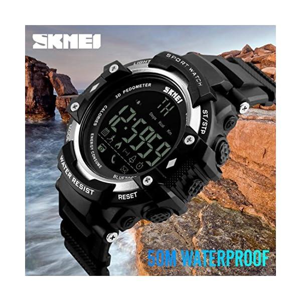 Reloj Deportivo Fitness Tracker SmartWatch con Podómetro Resistente al agua (5ATM) Control Remoto de Cámara Reloj para… 5