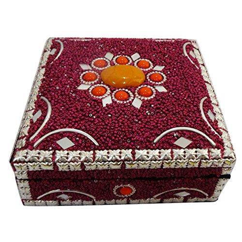 artigianalmente gioielli scatola in MDF materiale lac stoccaggio di grandi dimensioni tavolo caso magenta cappello a cilindro della scatola della pillola pesante oggetto regalo di nozze sposa