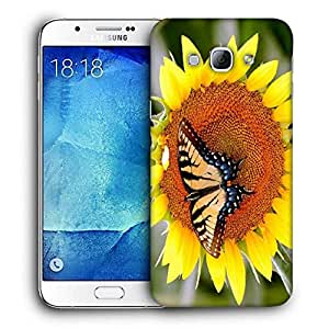 Snoogg Butterfly Seeking Honey From Sunflower Printed Protective Phone Back Case Cover For Samsung Galaxy Note 5