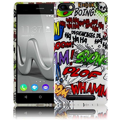 Wiko Lenny 3 - COMIC HAHA Silikon Schutz-Hülle weiche Tasche Cover Case Bumper Etui Flip smartphone handy backcover Schutzhülle Handyhülle thematys®