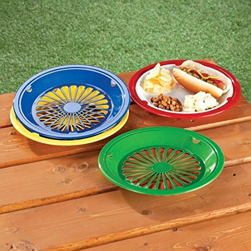 10 Reusable Plastic Paper Plate Holders - Set of 12 by Paper Plate Holders