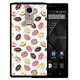 WoowCase Doogee F5 Hülle, Handyhülle Silikon für [ Doogee F5 ] Donuts Handytasche Handy Cover Case Schutzhülle Flexible TPU - Schwarz