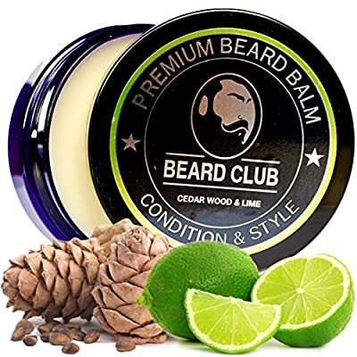 Premium Beard Balm | Cedar Wood & Lime | The Best Beard Conditioner & Softener to Shape & Style your Beard, While Stopping Beard Itch & Flakes | Natural & Organic | Great for Hair Care & Growth from Red King Products