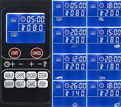 Rosenstein Shne Friteuse Digitale Multi Heiluft Fritteuse Mit 8 Programmen 1500 W Schwarz Heissluftfritse