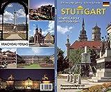 Stuttgart: Stadtführer durch die Landeshauptstadt und ihre Umgebung Panoramastadtplan mit eingezeichnetem Rundgang
