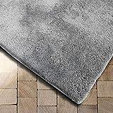 Floordirekt Shaggy-Teppich Prestige | Super-Hochflor | Extra flauschig (70 x 130 cm, Silbergrau)