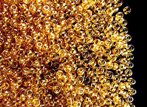 20gr 10/0 (2,2-2,4 mm) Preciosa Seed Beads - ceco Branelli del seme di, Topaz Transparent Luster - Topaz 10 Pezzo