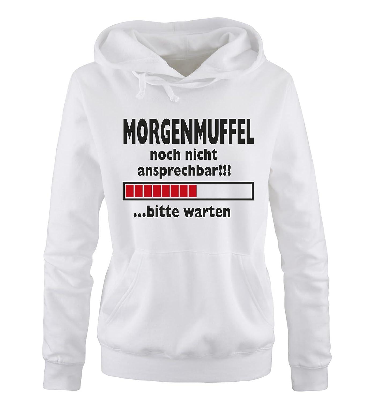 Damen Frauen Hoodie Gr Farben S XL Versch Morgenmuffel ...bitte warten