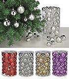 60 schöne Weihnachtsbaumkugeln (Silber)