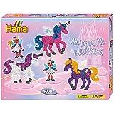 Hama 3138 - Geschenkpackung Zauberhafte Pferde, circa 4000 Bügelperlen, 2 Stiftplatten und Zubehör