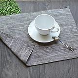 RUGAI-UE Place-mats Thick cotton cloth cloth napkin mat Japanese tableware pad pad pad Pad Coaster bowl dish insulation pad,Double/coffee color