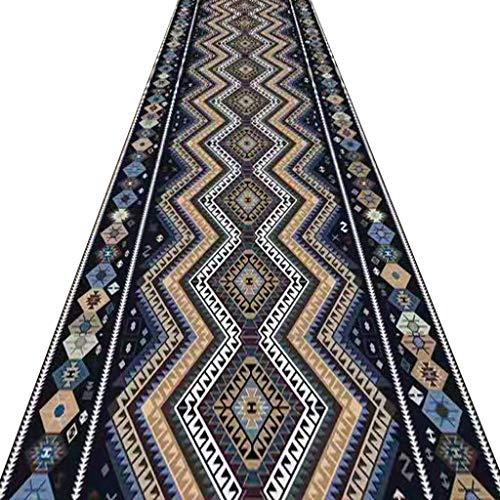 SESO UK- Langer Teppich Runner rutschfest - Hall Stairs Flur - waschbarer Teppich - modernes Muster (Size : 140×350cm)