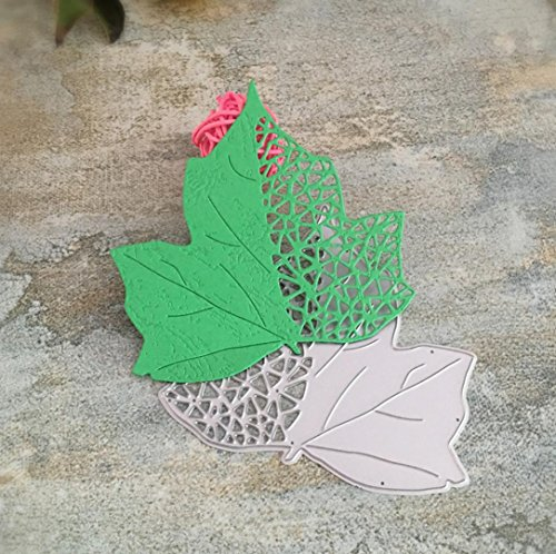 nen, SHOBDW Halloween Weihnachten New Flower Heart Metal Cutting Dies Stencils DIY Scrapbooking Album Paper Card Craft (H) (Halloween-lesezeichen, Handwerk)
