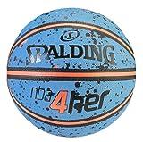 Spalding Erwachsene Ball NBA 4HER splatter 83-308Z Basketball Blau/Orange 6