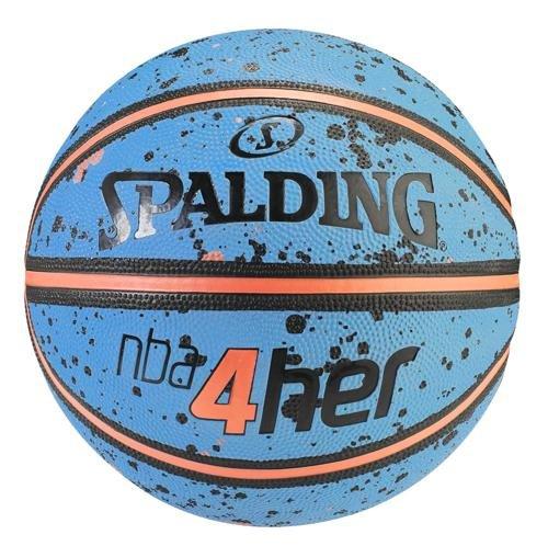 Spalding Ball NBA 4HER splatter 83-308Z - himmelblau/orange, Größe 6