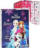 Unbekannt Heftordner / Ordner / Heftbox - A5 -  Disney Frozen - die Eiskönigin  - incl. Name - für Hefte, Zettel und Mappen - Glanz Druck - Gummizugmappe & Heftmappe ..