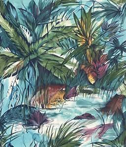 p150201 5 vlies tapete wandbild tropische pflanzen airbrush baumarkt. Black Bedroom Furniture Sets. Home Design Ideas