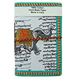 Stylewise - Quaderno per appunti, fatto a mano, con carta riciclata, con elefante stampato sulla copertina Bianco (design # 3)