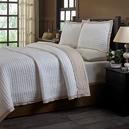 Be-You-tiful Home Britten Taupe Queen Quilt Set, 3 Piece